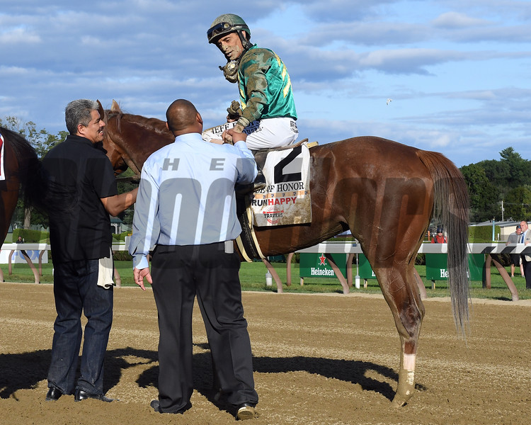 Code of Honor wins 2019 Travers Stakes at Saratoga. Photo: Coglianese Photos/Amira Chichakly