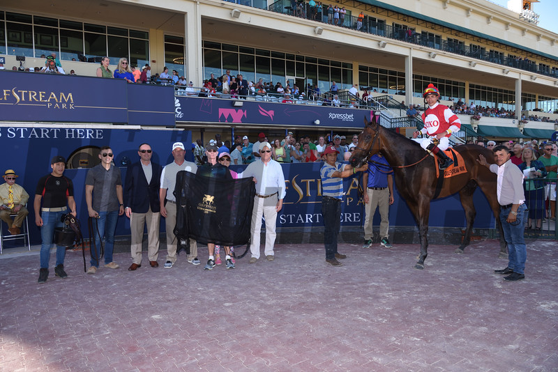 Cambier Parc wins 2019 Herecomesthebride Stakes at Gulfstream Park. Photo/Coglianese Photos