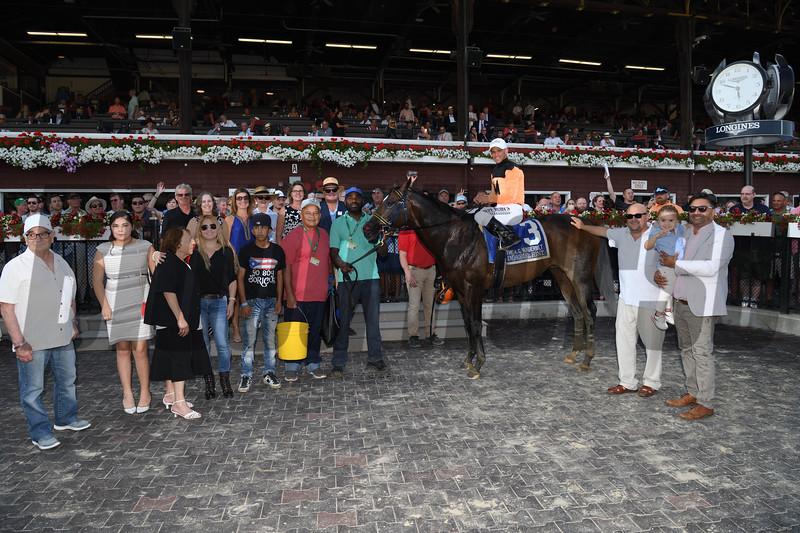 Imperial Hint wins the 2019 Alfred G. Vanderbilt Handicap at Saratoga. Photo: Coglianese Photos