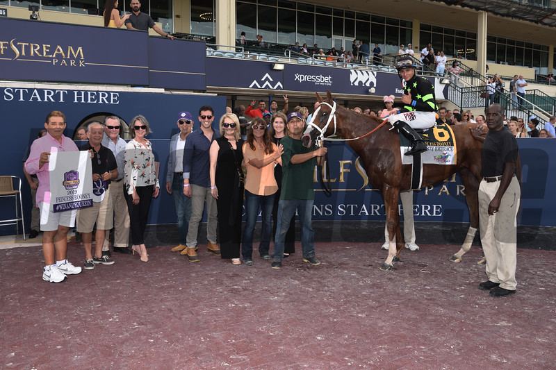 Stormy Embrace wins the Princess Rooney Stakes Saturday, June 29, 2019 at Gulfstream Park. Photo: Coglianese Photos