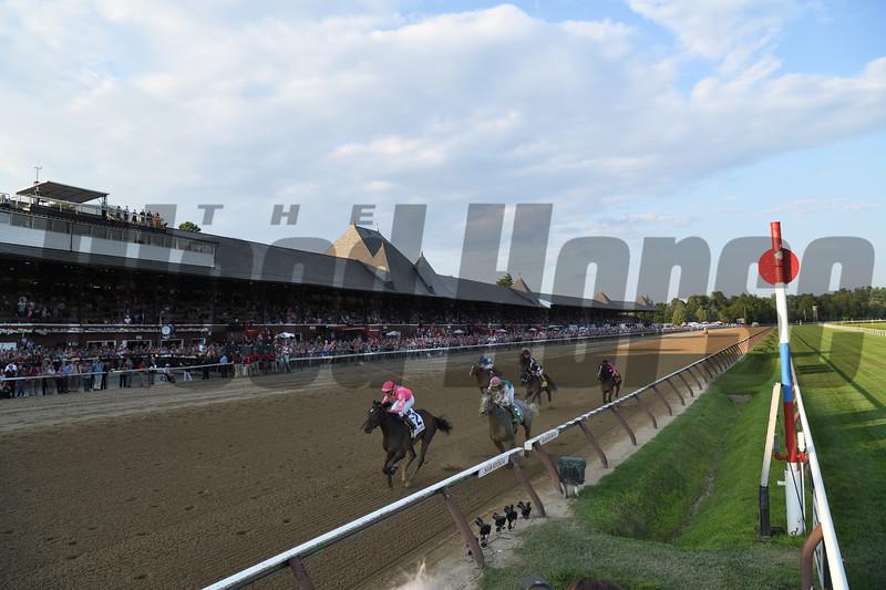 Tax wins the 2019 Jim Dandy Stakes at Saratoga. Photo: Coglianese Photos/Meredith Chrimes