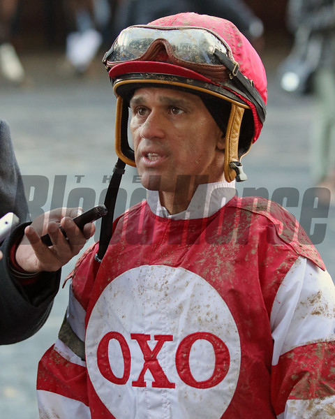 Javier Castellano after the Gotham at Aqueduct on March 9, 2019 Photo By: Chad B. Harmon