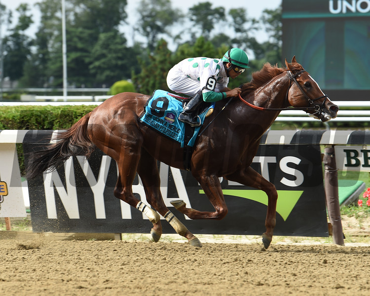 Promises Fulfilled wins the 2019 John A. Nerud Stakes at Belmont Park<br /> Coglianese Photos/Janet Garaguso