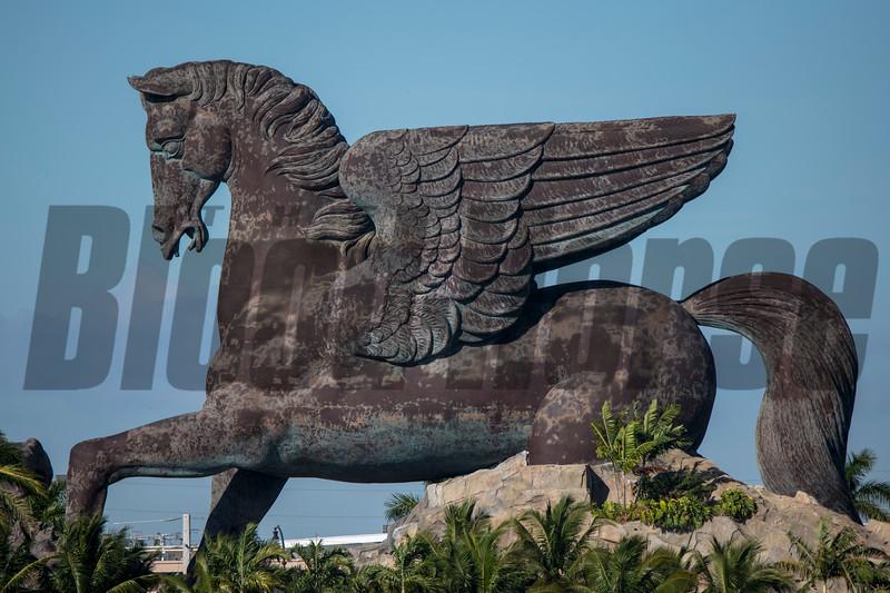 Pegasus Statue at Gulfstream Park, January 19, 2019<br /> Joe DiOrio Photo