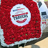 Travers flowers on Code of Honor after the 150th Running of The Travers (GI) at Saratoga on August 24, 2019. Photo By: Chad B. Harmon