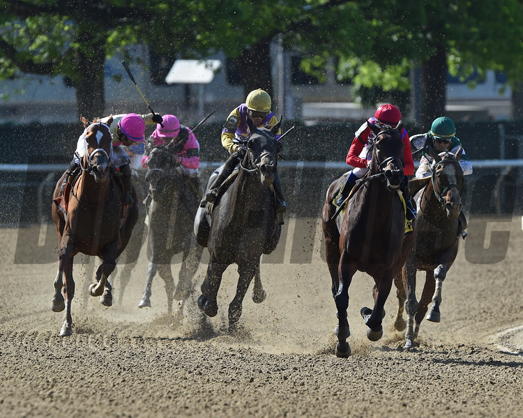 Kathryn the Wise wins the Critical Eye Stakes Monday, May 27, 2019 at Belmont Park. Photo: Coglianese Photos/Elsa Lorieul
