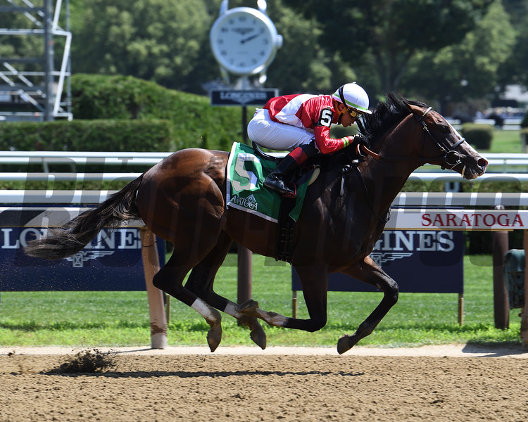By Your Side wins the 2019 Sanford Stakes at Saratoga<br /> Coglianese Photos/Susie Raisher