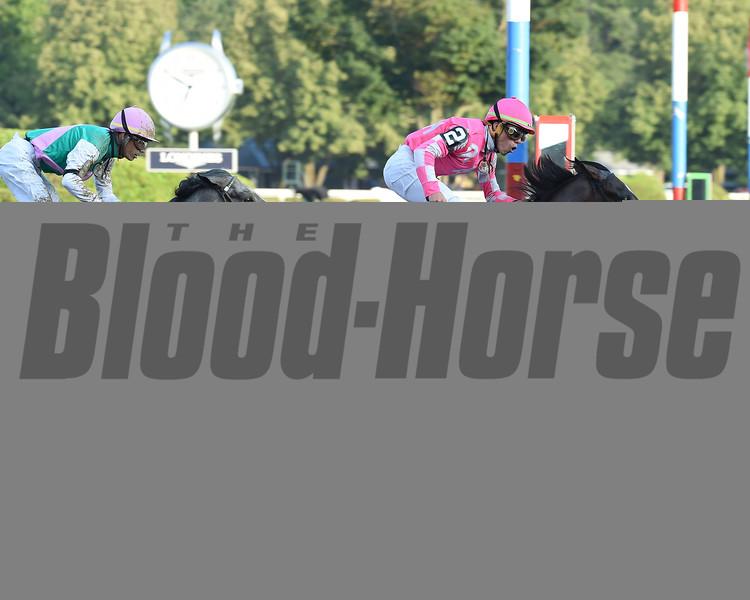 Tax wins the Jim Dandy Stakes Saturday, July 27, 2019 at Saratoga. Photo: Coglianese Photos/Derbe Glass
