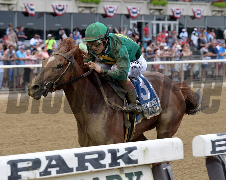 Code of Honor wins the 2019 Dwyer Stakes at Belmont Park<br /> Coglianese Photos/Joe Labozzetta