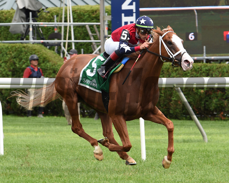 Kid Is Frosty wins the 2019 New York Stallion Series Stakes at Saratoga<br /> Coglianese Photos/Janet Garaguso