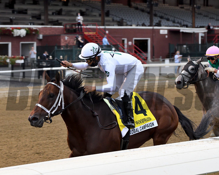 Global Campaign wins the 2020 Woodward Handicap at Saratoga<br /> Coglianese Photos/Chelsea Durand