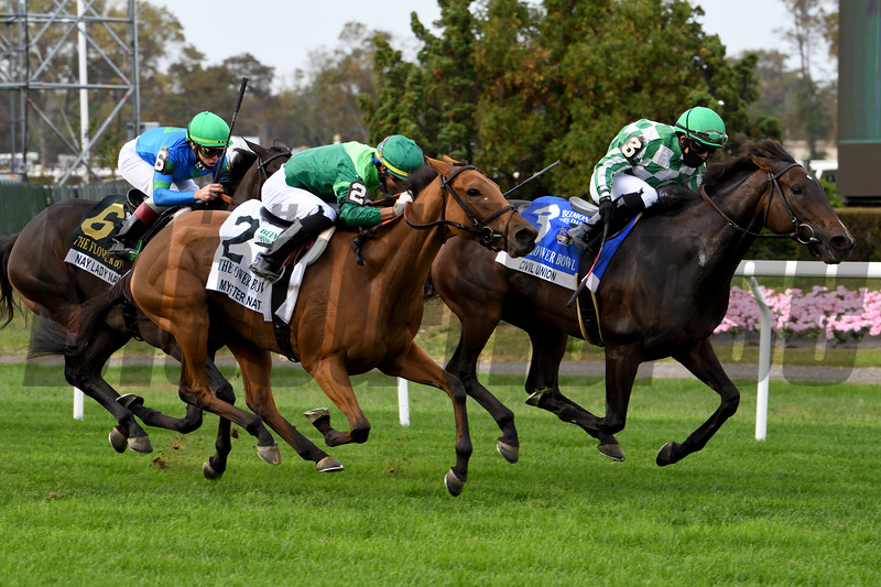 Civil Union wins the 2020 Flower Bowl Stakes at Belmont Park<br /> Coglianese Photos/Janet Garaguso