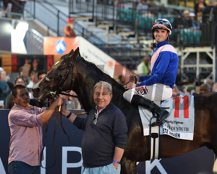 Ete Indien wins the 2020 Fountain of Youth Stakes at Gulfstream Park. Photo: Coglianese Photos/Lauren King