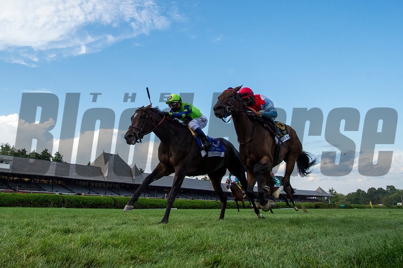Rushing Fall wins the 2020 Diana Stakes at Saratoga<br /> Coglianese Photos