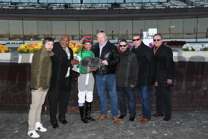 Diamond King wins the 2020 Stymie Stakes at Aqueduct. Photo: Coglianese Photos
