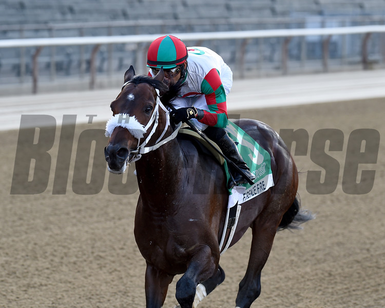 Firenze Fire wins the 2020 Vosburgh Stakes at Belmont Park<br /> Coglianese Photos/Chelsea Durand