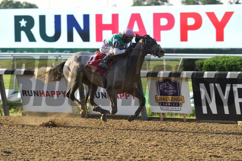 Tacitus wins the Suburban Stakes Saturday, July 4, 2020 at Belmont Park. Photo: Coglianese Photos/Elsa Lorieul