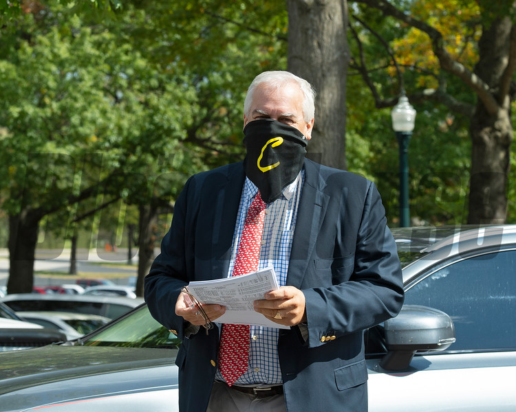 Bernie Sams arriving<br /> Scenes at Keeneland  on October 3, 2020.