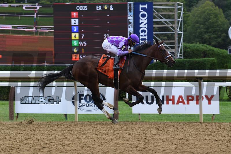 Simply Ravishing wins the 2020 P. G. Johnson Stakes at Saratoga<br /> Coglianese Photos/Susie Raisher