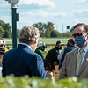 Drew Fleming, left, and John Keitt, before Inthemidstofbiz with Martin Garcia wins the Thoroughbred Club of America (G2) at Keeneland on October 3, 2020.