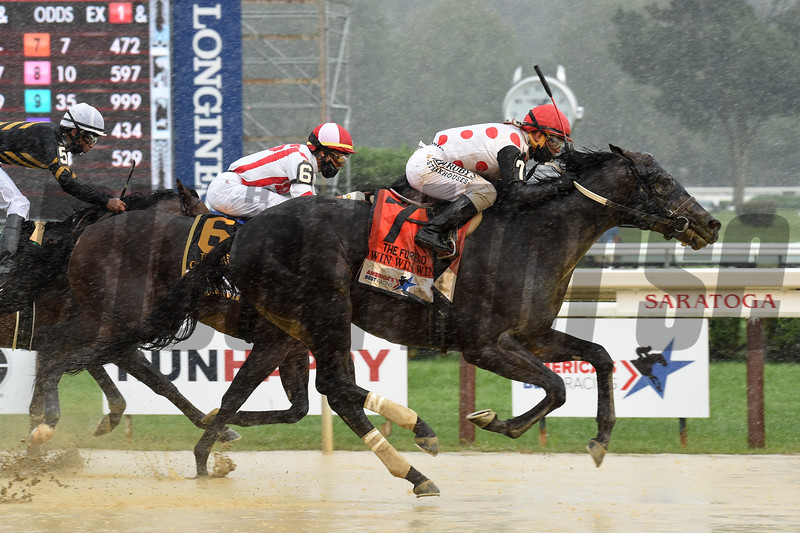 Win Win Win wins the 2020 Forego Stakes at Saratoga<br /> Coglianese Photos