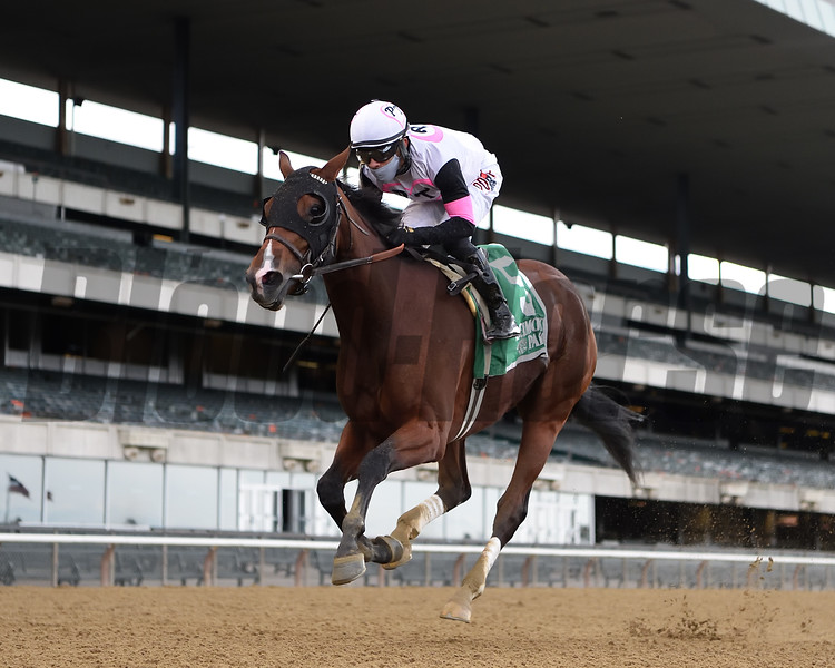 Horologist wins the 2020 Beldame Stakes at Belmont Park<br /> Coglianese Photos