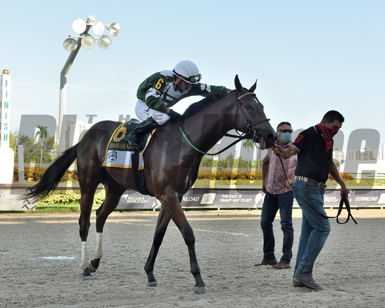 Breeze On By wins the 2020 FTBOA Florida Sire Affirmed Stakes at Gulfstream Park<br /> Coglianese Photos/Ryan Thompson
