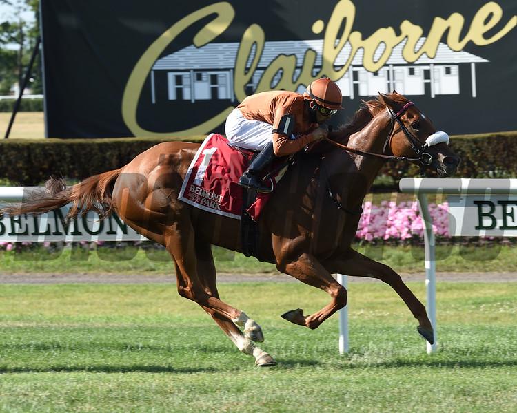 Bredenbury wins the Lady Shipman Stakes Sunday, June 21, 2020 at Belmont Park. Photo: Coglianese Photos/Elsa Lorieul