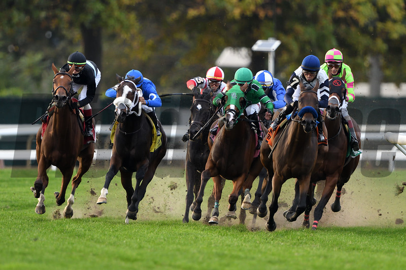 Tamahere wins the 2020 Sands Point Stakes at Belmont Park<br /> Coglianese Photos/Dom Napolitano