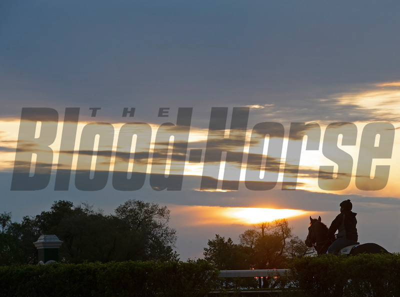 Caption:<br /> Keeneland scenes and horses on April 25, 2020 Keeneland in Lexington, KY.