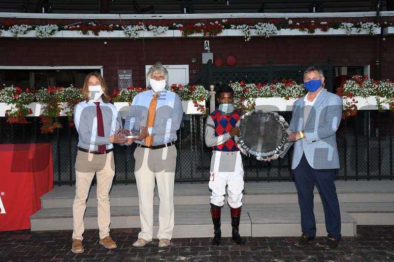 Volatile wins 2020 Alfred G. Vanderbilt Handicap at Saratoga. Photo: Coglianese Photos