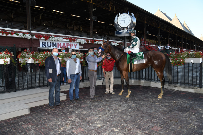 Gamine wins the 2020 Test Stakes at Saratoga<br /> Coglianese Photos