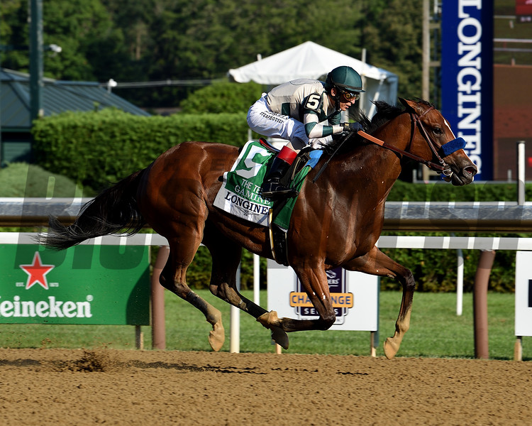 Gamine wins the 2020 Test Stakes at Saratoga<br /> Coglianese Photos/Chris Rahayel