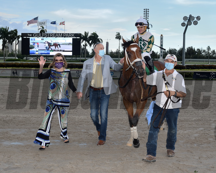 Double Crown wins the 2020 Carry Back Stakes at Gulfstream Park<br /> Coglianese Photos/Ryan Thompson
