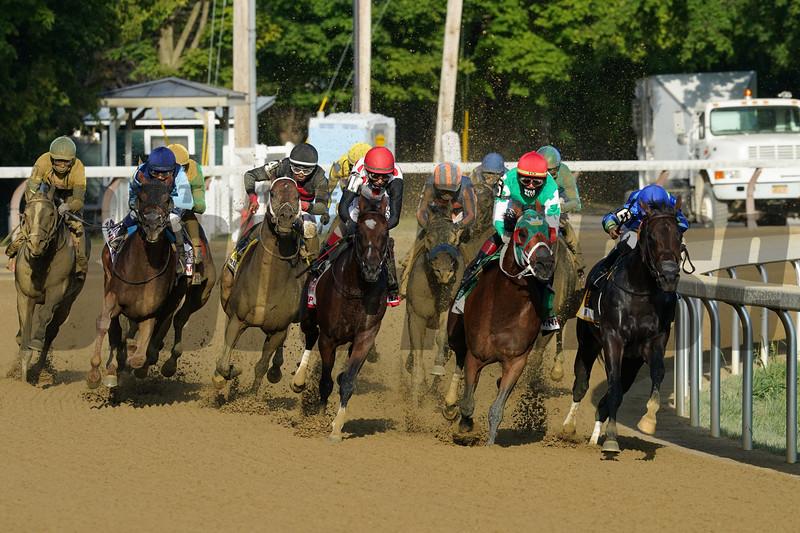 Echo Town wins the H. Allen Jerkens Stakes Saturday, August 1, 2020 at Saratoga. Photo: Coglianese Photos/Dom Napolitano
