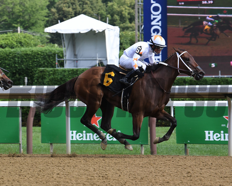 Lady Lilly wins maiden special weight Sunday, August 2, 2020 at Saratoga. Photo: Coglianese Photos