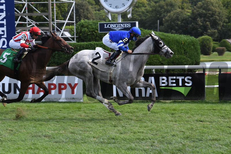 Lovestruck wins maiden special weight Monday, September 7, 2020 at Saratoga Race Course. Photo: Coglianese Photos