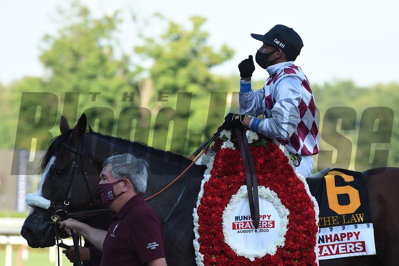Tiz the Law wins the 2020 Travers Stakes<br /> Coglianese Photos/Chris Rahayel