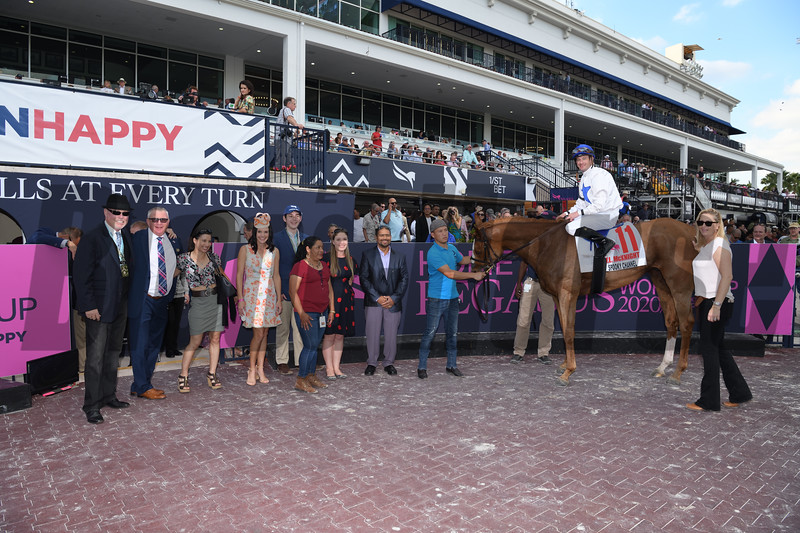 Spooky Channel wins 2020 W. L. McKnight Stakes at Gulfstream Park. Photo: Coglianese Photos