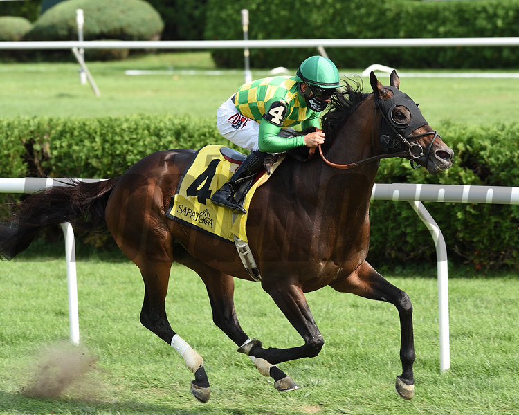 Ballagh Rocks wins the Lure Stakes Monday, September 7, 2020 at Saratoga Race Course. Photo: Coglianese Photos