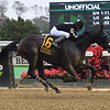 Laobanonaprayer wins the 2020 Maid of the Mist Stakes at Belmont Park<br /> Coglianese Photos/Janet Garaguso