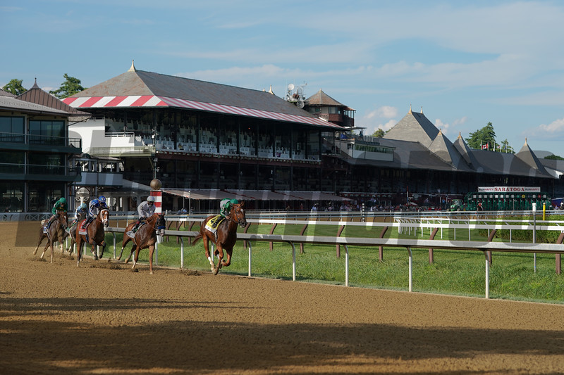 Improbable wins the Whitney Stakes Saturday, August 1, 2020 at Saratoga. Photo: Coglianese Photos/Amira Chichakly