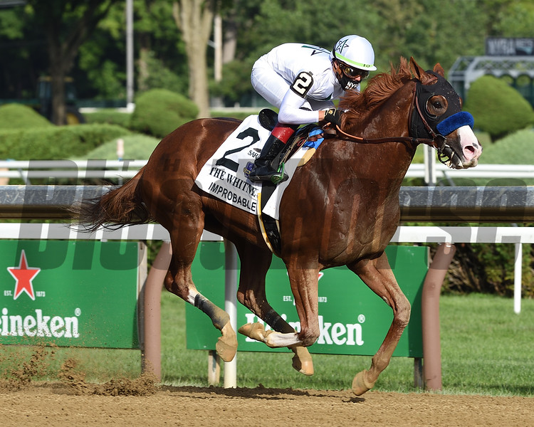 Improbable wins the 2020 Whitney at Saratoga<br /> Coglianese Photos