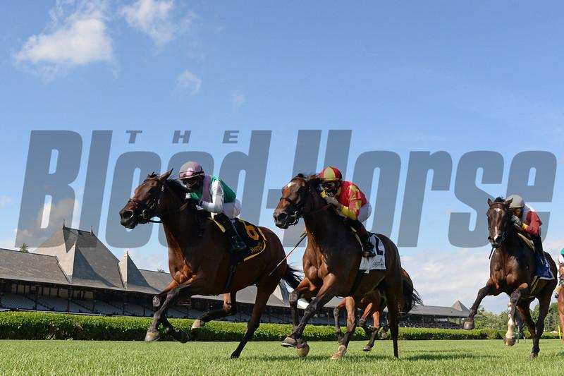 Viadera wins the 2020 De La Rose Stakes at Saratoga<br /> Coglianese Photos/Chelsea Durand