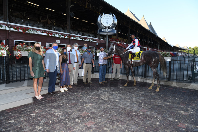 Volatile wins 2020 Alfred G. Vanderbilt Handicap at Saratoga. Photo: Coglianese Photos