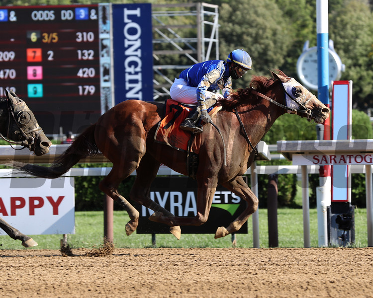 Mystic Guide wins the 2020 Jim Dandy Stakes at Saratoga<br /> Coglianese Photos/Janet Garaguso