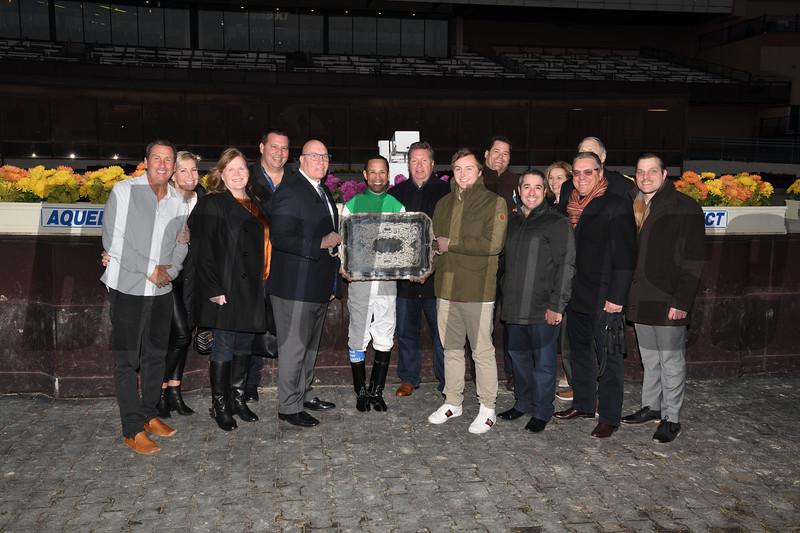 Mischevious Alex wins the 2020 Gotham Stakes at Aqueduct. Photo: Coglianese Photos