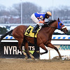 Backsideofthemoon wins the Queens County Stakes Saturday, December 19, 2020 at Aqueduct. Photo: Coglianese Photos