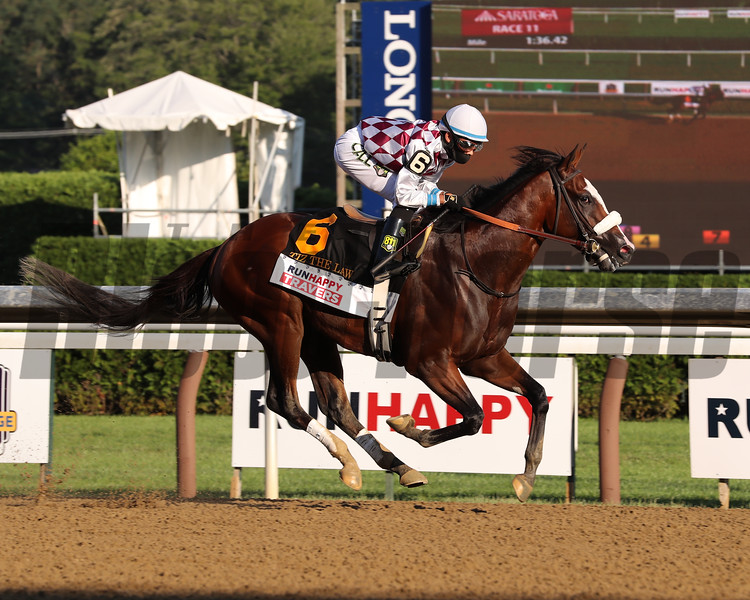 Tiz the Law wins the 2020 Travers Stakes<br /> Coglianese Photos/Janet Garaguso