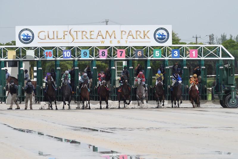 First race of the 2020 Season at Gulfstream Park West<br /> Churchills Victory - Maiden Win, Gulfstream Park West, October 3, 2020<br /> Coglianese Photos/Ryan Thompson
